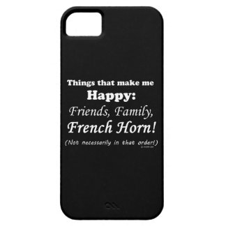 French Horn Makes Me Happy iPhone SE/5/5s Case