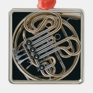 French Horn Metal Ornament