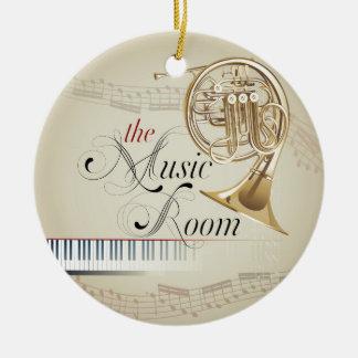French Horn Music Room Ceramic Ornament