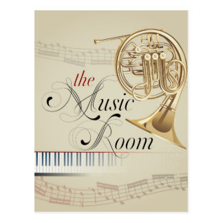 French Horn Music Room Postcard