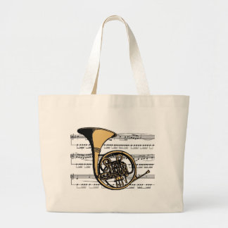 French Horn musical 06 B Tote Bag