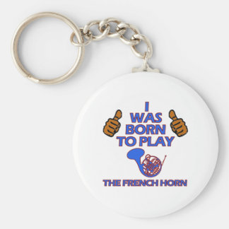 french horn Musical designs Keychain