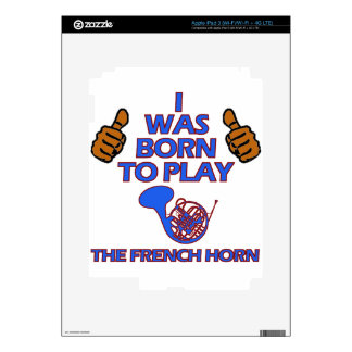 french horn Musical designs Decal For iPad 3