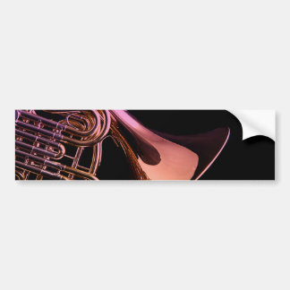 French Horn Musical Instrument Image Bumper Sticker