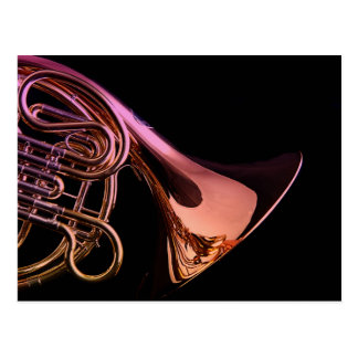 French Horn Musical Instrument Image Postcard