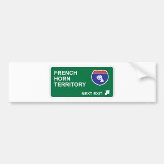 French Horn Next Exit Bumper Sticker