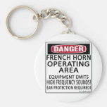 French Horn Operating Area Keychains