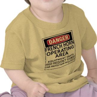 French Horn Operating Area Tee Shirts