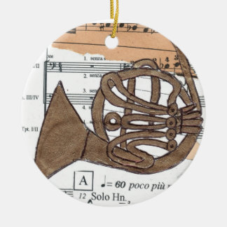 (French) Horn ornament