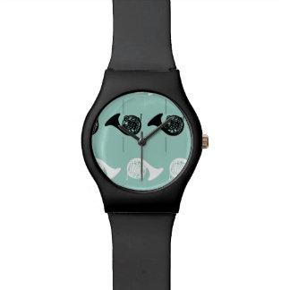 French Horn Pattern Wrist Watch