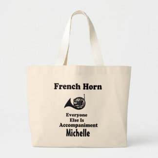 French Horn Personalized Music Tote bag Gift
