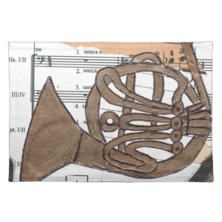 (French) Horn placemat