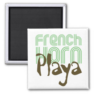 French Horn Playa 2 Inch Square Magnet