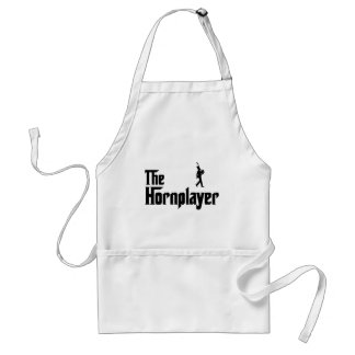 French Horn Player Adult Apron