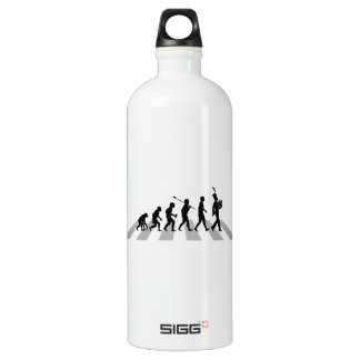 French Horn Player Aluminum Water Bottle
