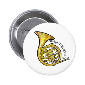 French Horn Player Button