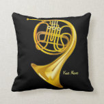French Horn Player Personalized Music Gift Pillow