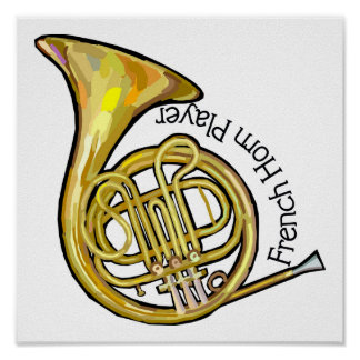French Horn Player Poster
