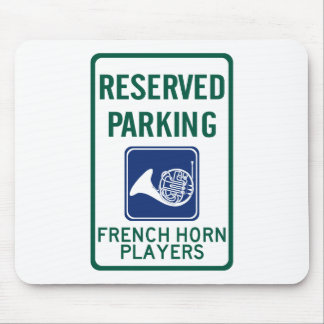 French Horn Players Parking Mouse Pads