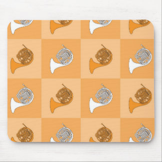 French Horn Pop Art Mouse Pad