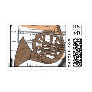 (French) Horn postage stamp