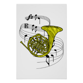 French Horn Print