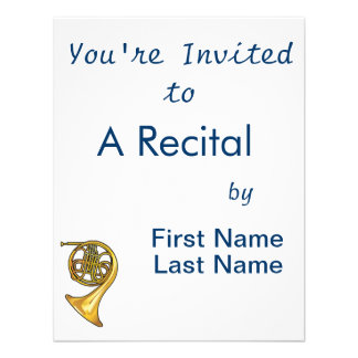 french horn real style png invitations