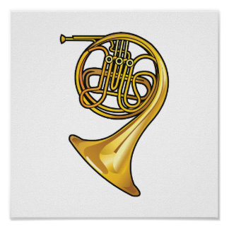 french horn real style.png poster