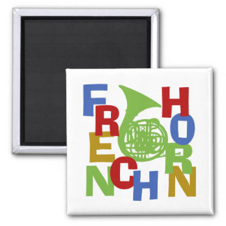 French Horn Scramble 2 Inch Square Magnet