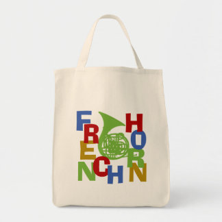 French Horn Scramble Tote Bags