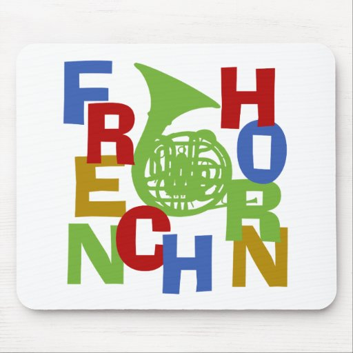 French Horn Scramble Mouse Pad