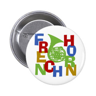 French Horn Scramble Pinback Button