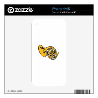 FRENCH HORN SKIN FOR THE iPhone 4
