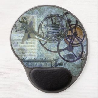 French Horn Steampunk Medley Gel Mouse Pad