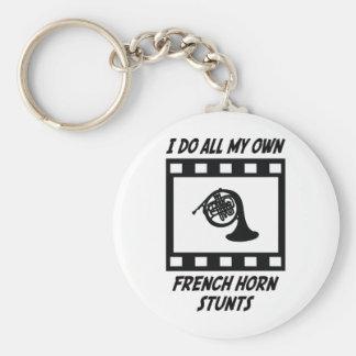 French Horn Stunts Basic Round Button Keychain