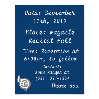 french horn stylized simple grey png personalized invites