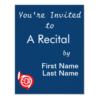 french horn stylized simple red.png card