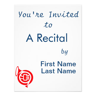 french horn stylized simple red png personalized invitation