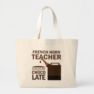 French Horn Teacher (Funny) Chocolate Large Tote Bag