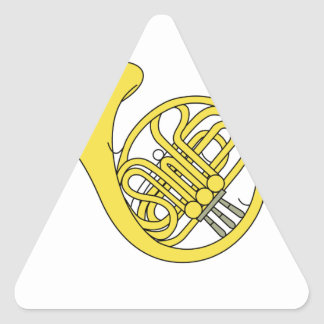 French Horn Triangle Sticker
