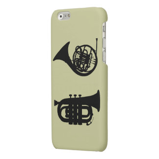 FRENCH HORN & TRUMPET MATTE iPhone 6 CASE