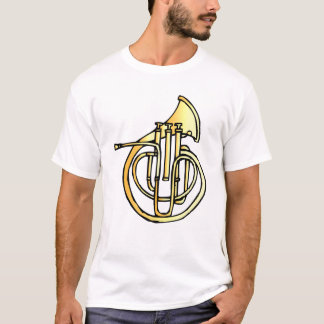 French horn type instrument front facing bell T-Shirt