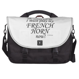 French Horn Voices Say Must Play Laptop Messenger Bag