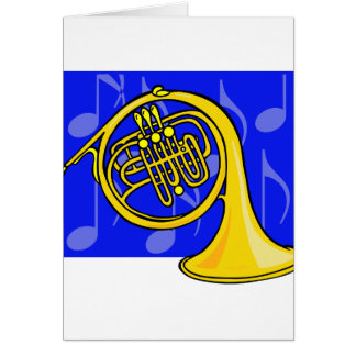 French Horn, Yellow, With Blue Notes Back