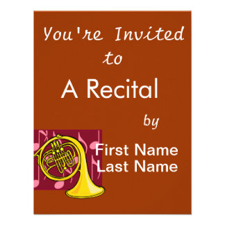 French Horn Yellow With Burgundy Notes Back Announcement