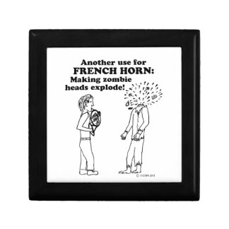 French Horn Zombie Explode Trinket Box