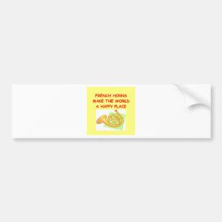 french horns bumper sticker