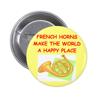 french horns pinback button