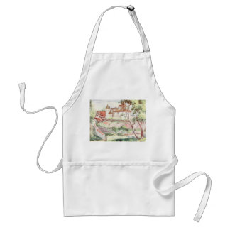 French House at Omet Adult Apron