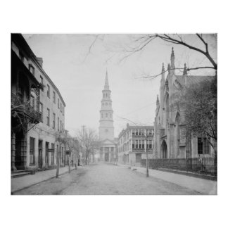 French Huguenot Church and St. Philip's Church Poster